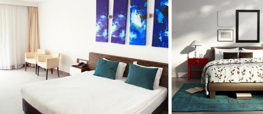 Phòng ngủ tam giác màu