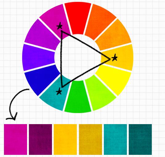 màu tam giác